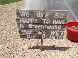 Playful and happy signs greet students, staff at guests at the greenhouse open house held at Crimson View Elementary, St. George, Utah, May 13, 2015 | Photo by Hollie Reina, St. George News