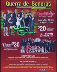 """Guerra de Sonoras"" event flyer, location and date not specified 