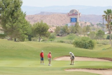 Golfers compete at the CasaBlanca Golf Club during the 2014 Mesquite Amateur golf tournament, Mesquite Nevada, 2014 | Photo by Tyler Cooper of Mesquite Gaming, St. George News