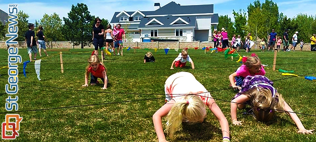 Farm Style Obstacle Course Designed To Benefit 2 Year Old