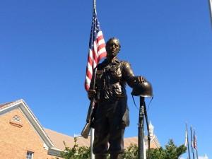 Solder statue at Veterans Park, Washington City, Utah, May 25, 2015 | Photo by Mori Kessler, St. George News