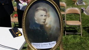 Portrait of Daniel Lester Keate, of St. George, who was killed in action in Champagne, France, during War World I while serving in the U.S. Marine Corp, St. George Cemetery, St. George, Utah, May 25, 2015 | Photo by Mori Kessler, St. George News