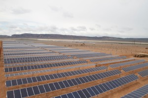 Solar panels installed just west of Parowan ready to provide power to Southern Utah | Photo courtesy of Scatec Solar, St. George News