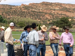 Cattlemen meeting opposing the Grand Canyon Watershed National Monument, Moccasin, Arizona, May 1, 2015 | Photo by Cami Cox Jim, St. George News