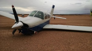 Piper Arrow aircraft crashed after experiencing mechanical failure while landing, St. George Municipal Airport, St. George, Utah, May 22, 2015 | Photo courtesy of Brad Kitchen, St. George News