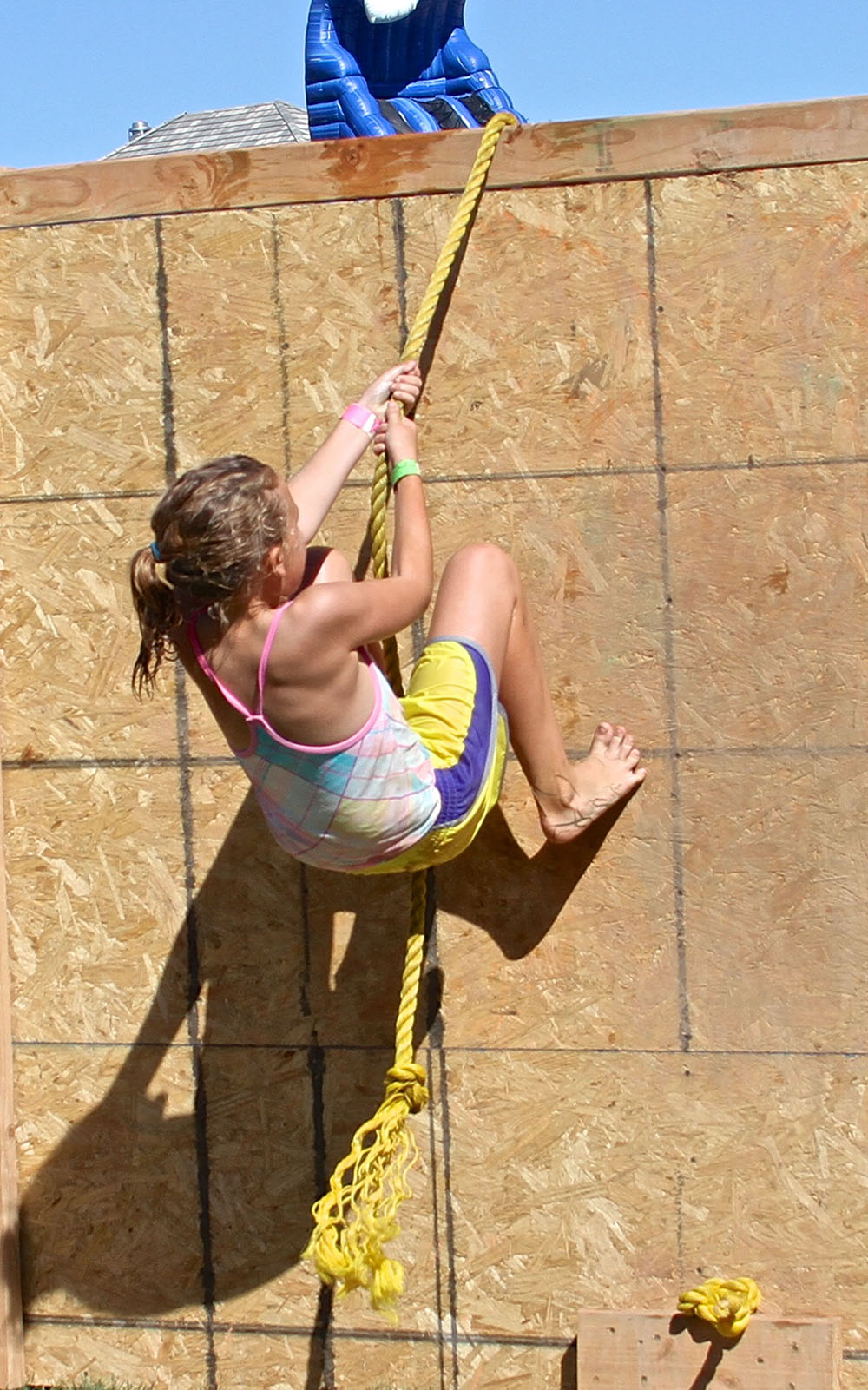 Girl climbs a wall during the Kids Adventure Challenge, St. George, Utah, October 3, 2014 | Photo courtesy of Kids Adventure Challenge, St. George News
