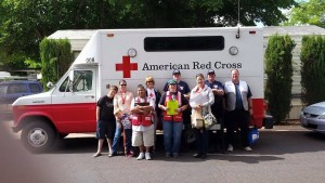 Red Cross volunteers out for the House Fire Preparedness Campaign, Washington City, Utah, May 16, 2015 | Photo courtesy of the American Red Cross of Southern Utah, St. George News