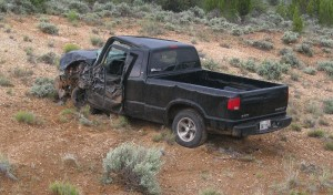 An accident on SR-18 sent two people to the hospital, Dammeron Valley, Utah, Monday, May 18, 2015 | Photo by Ric Wayman, St. George News