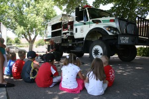 Children learn about safety during a session of Safety Town, location and date not specified   Photo courtesy of the St. George Leisure Services, St. George News