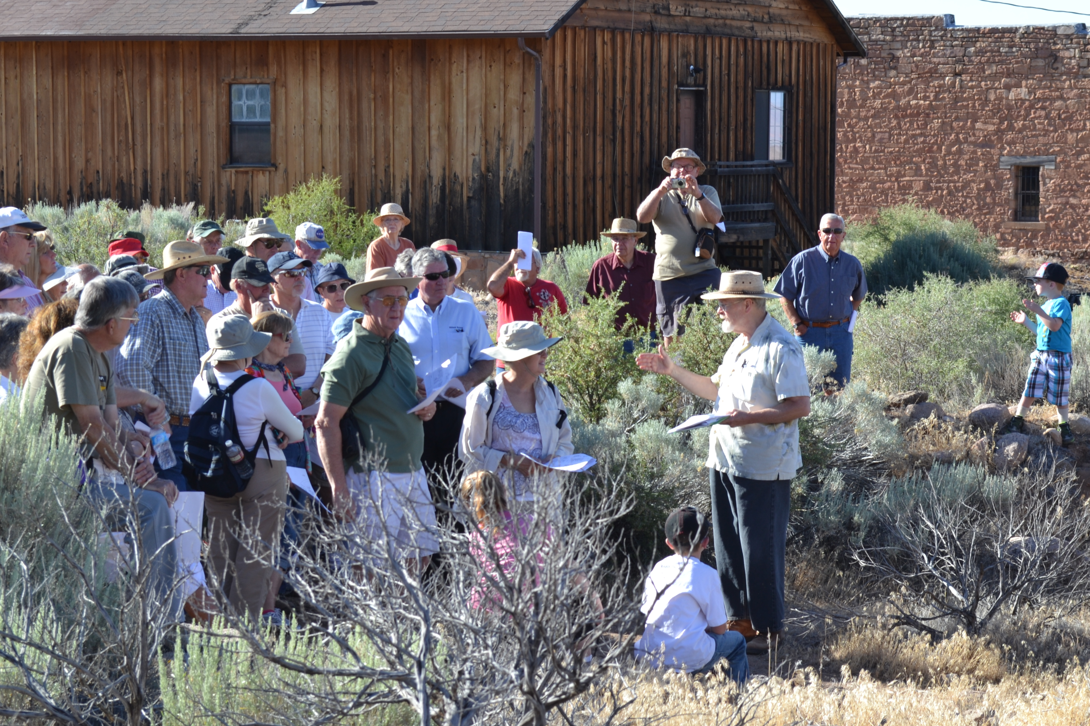 Dr. Robert Schuyler gives guided tour of Silver Reef, Leeds, Utah, undated | Photo courtesy of Silver Reef Museum, St. George News