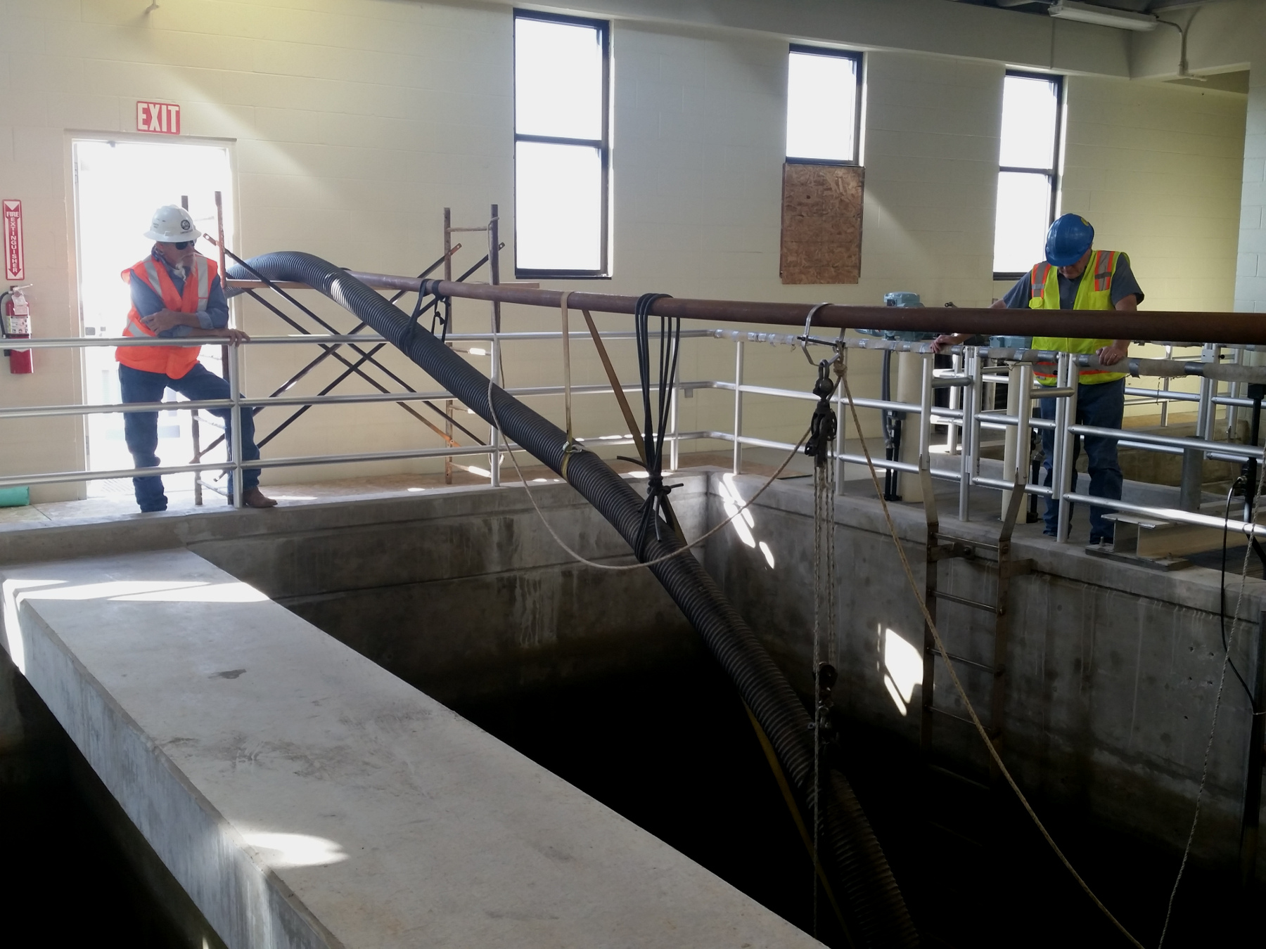 Workers complete filter expansion at Quail Creek Water Treatment Plant, Washington County, Utah, May 11, 2015 | Photo by Julie Applegate, St. George News
