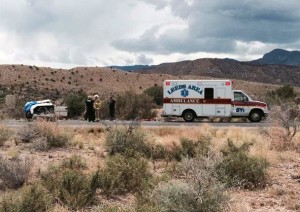 Responders attend to fatal accident on Interstate 15 near Toquerville, Utah, June 12, 2015 | Photo by Mori Kessler, St. George News