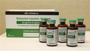 FILE - This Friday, July 25, 2014 file photo shows bottles of midazolam at a hospital pharmacy in Oklahoma City. On Monday, June 29, 2015, The Supreme Court voted 5-4 in a case from Oklahoma saying that the sedative midazolam can be used in executions without violating the Eighth Amendment prohibition on cruel and unusual punishment. | Photo by AP Sue Ogrocki, St. George News