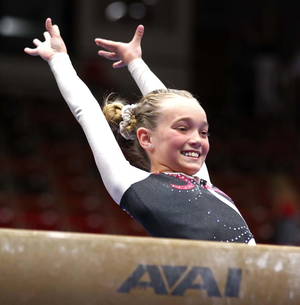Utah Summer Games, Gymnastics, Cedar City, Utah, June 13, 2015, | Photo by Robert Hoppie, ASPpix.com, St. George News