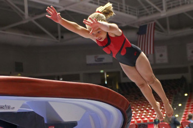 Utah Summer Games, Gymnastics, Cedar City, Utah, June 13, 2015, | Photo by Robert Hoppie, ASPpix.com, St. George News