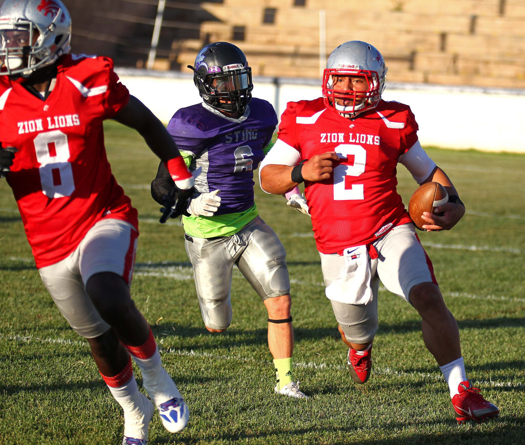 Misi Tupe (2) will be back tonight for the Lions, file photo from Zion Lions vs. Brigham Sting, Foorball, St. George, Utah, June 13, 2015, | Photo by Robert Hoppie, ASPpix.com, St. George News