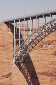 Glen Canyon Dam Bridge as seen from Glen Canyon Dam, June 19, 2015 | Photo by Hollie Reina, St. George News