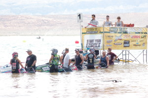 Racers line up for the start of the Pro Watercross Tour held at Sand Hollow State Park, Utah, June, 2015 | Photo by Hollie Reina, St. George News