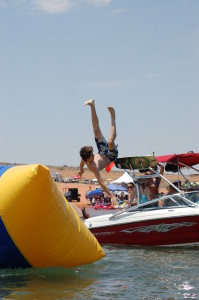 Free activities like this blob launcher were provided for spectators at the Pro Watercross Tour held at Sand Hollow State Park, Utah, June 27, 2015 | Photo by Hollie Reina, St. George News