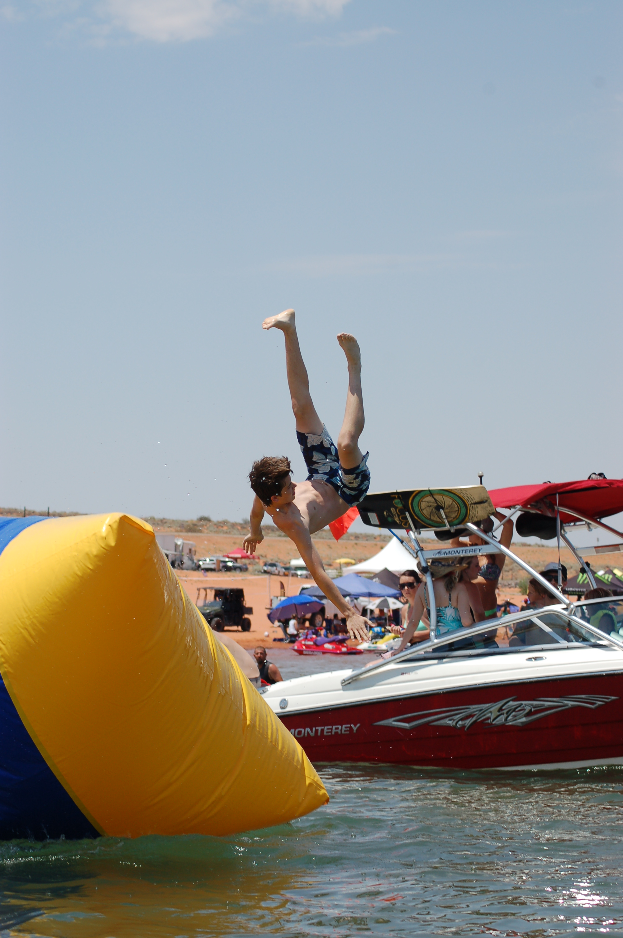 At the 2015 event free activities like this blob launcher were provided for spectators at the Pro Watercross Tour held at Sand Hollow State Park, Utah, June 27, 2015 | Photo by Hollie Reina, St. George News