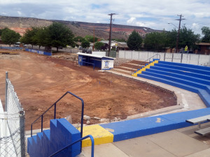 Don Lay Flyer Field is being torn down, and a new baseball field has been built at Dixie High School, St. George, Utah, June 10, 2015 | Photo by Julie Applegate, St. George News