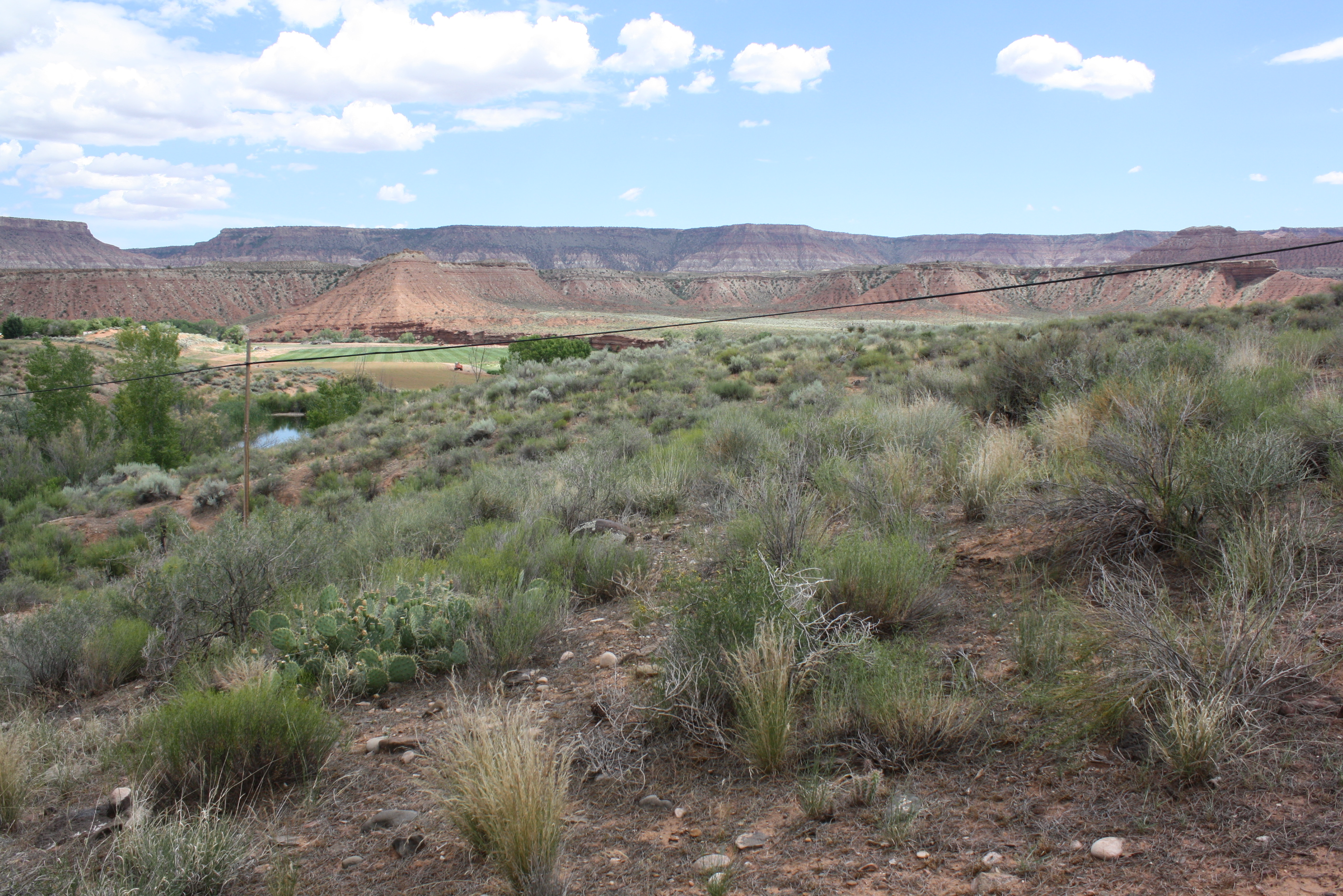 View of the proposed property of the future Zion Sunset Resort at approximately 500 W. State Street in Virgin, June 11, 2015| Photo by Reuben Wadsworth, St. George News