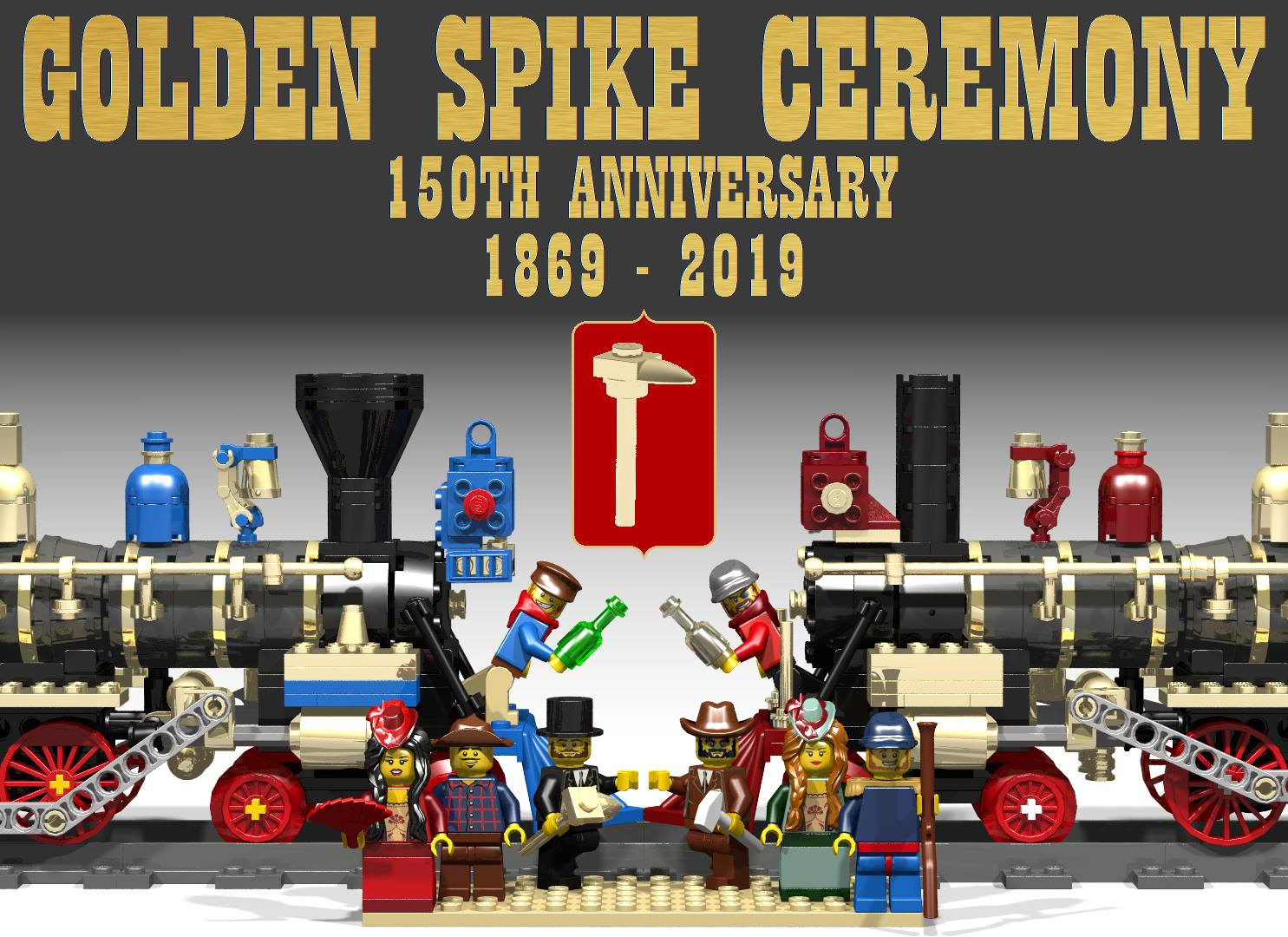 Golden Spike Ceremony Lego replica, contest submission by Jack Little | Photo Courtesy of Jack Little, St. George News