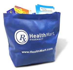 Image of complimentary bag of sample products | Photo courtesy of HealthMart, St. George News