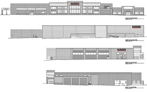 Blueprints of the new Harmons grocery store which will be built in Santa Clara | Image courtesy of Harmons Neighborhood Grocer