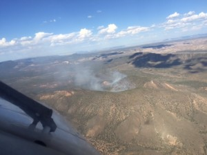 Sand Cove Fire is being handled by fire managers, 30 miles southwest of St. George, Utah, June 16, 2015 | Photo courtesy of BLM Arizona Strip, St. George News