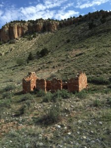 "View of remnants that can be seen during the ""Jacob Hamblin Days Ranch Rodeo"", Kanab, Utah, undated 