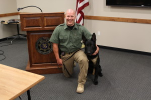 K-9 Deputy of Washington County Sheriff's Office, Darren Richmond and Vinnie, Washington County UT | Photo Courtesy of Jessica Tempfer, St. George News