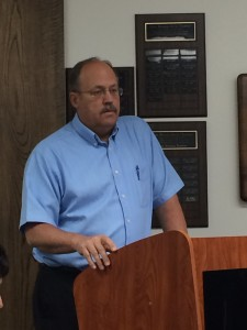 Iron County Planning/Special Services Coordinator Reed Erickson explains to council the process that led up to Monday's vote, Commission Chambers, Parowan, Utah, June 8, 2015 | Photo by Carin Miller, St. George News