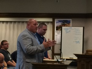 Cedar City Regional Airport Manager Jeremy Valgardson and Communication and Business Relations Manager Scott Jolley address the Council about complaints, Council Chambers, Cedar City, Utah, date   Photo by Carin Miller, St. George News