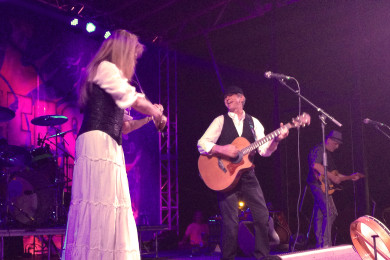Celtic rock band The Indulgers wowed the crowd Friday night with their unstoppable energy, Main Street Park, Cedar City, Utah, June 26, 2015 | Photo by Carin Miller, St. George News