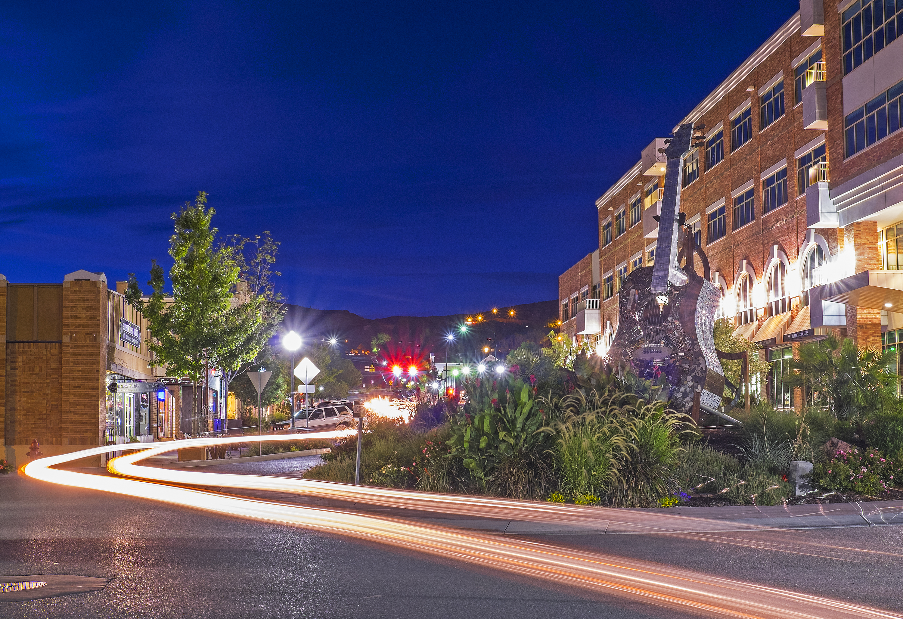 """Photograph of Main Street in St. George by photographer Nathan Wotkyns, owner of Wide Angle Photography. St. George, Utah, June 2015 