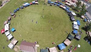 Dance arena, Paiute Restoration Gathering, Paiute Tribal Center, Cedar City, Utah, June 13, 2015   Photo by Dave Amodt, St. George News
