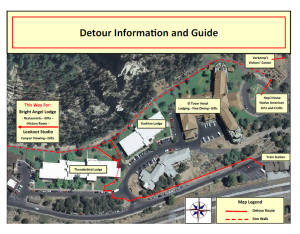 Detour information | Image courtesy of Grand Canyon National Park, St. George News