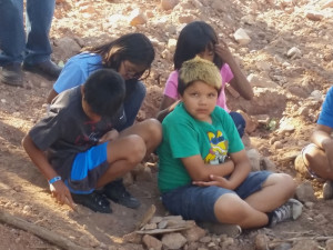 Shivwits children attend the celebration of the Shem Dam rehabilitation, Shivwits Reservation, Utah, June 2, 2015 | Photo by Julie Applegate, St. George News