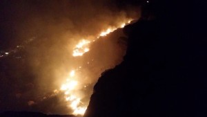 Fire on the airport hill, south of Little Valley, St. George, Utah, June 3, 2015 | Photo courtesy of Kennedy Abelhouzen, St. George News