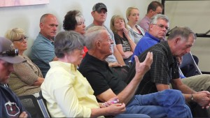 Frustrated residents confront officials regarding prescribed burning, Bryce Canyon, Utah, June 4, 2015 | Photo by Corey McNeil, St. George News