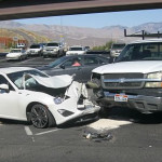 A head-on crash at Snow Canyon Parkway resulted in no injuries, St. George, Utah, June 25, 2015 |