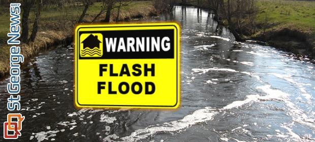 Evening flash flood warning; thunderstorm over Pine Valley ...
