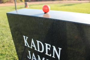 A small toy basketball adorns Kaden Jones' headstone, St. George, Utah, June 2, 2015 | Photo by Sheldon Demke, St. George News