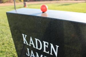 A small toy basketball adorns Kaden Jones' headstone, St. George, Utah, June 2, 2015 | Photo by Sheldon Demke, St. George News