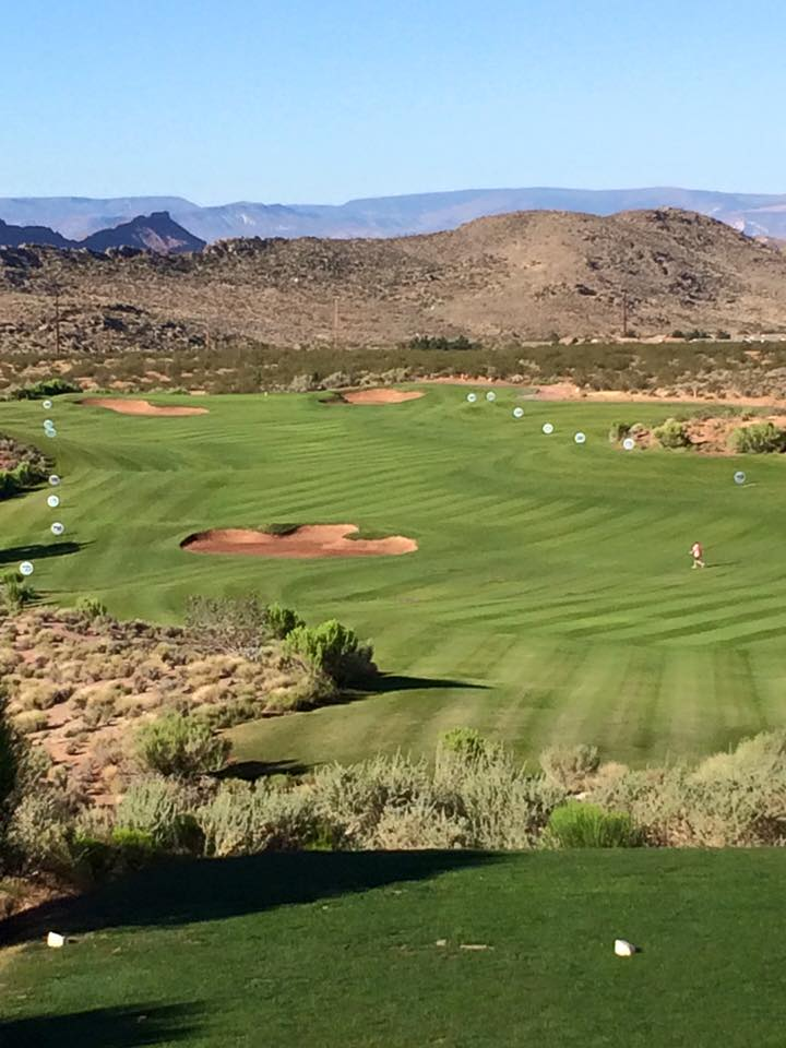 The long drive grid at Coral Canyon Golf Course, Utah Long Drive Championships, Washington, Utah, Jun. 13, 2015 | Photo by Devin Dixon