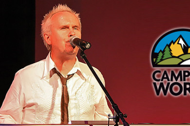 Howard Jones singing during a concert, location and date unspecified   Photo by Mikesfox via Wikimedia Commons, St. George News