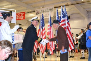 Iron County welcome home reception for the Utah Honor Flight, Cedar City, Utah, June 6, 2015 | Photo by Emily Hammer, Cedar City News