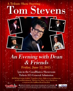 Event flyer for Tom Stevens, location and date not specified | Image courtesy of Mesquite Gaming, St. George News
