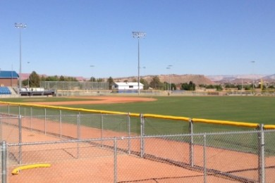 "Newly constructed Dixie High School Baseball Field located just south of the former ""Coach Don Lay Flyer Field,"" St. George, Utah, June 16, 2015 